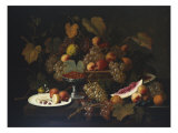 Still Life with Fruit, 1852 Print by Severin Roesen