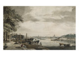Westminster Bridge Looking North from Millbank Towards Millbank Street, 18th Century Giclee Print by James Miller