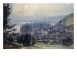 View of Vetheuil. Vue de Vetheuil, 1897 Prints by Albert-Charles Lebourg