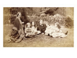 Portrait of the MacDonald Family with Lewis Carroll, 1863 Giclee Print by Lewis Carroll
