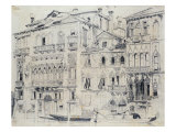On the Grand Canal, Venice, Italy. Pencil, c.1826 Giclee Print by Richard Parkes Bonington