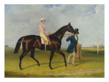 Sweetmeat, a Dark Bay Racehorse with Whitehouse Led by Trainer on a Racecourse, 1845 Giclee Print by Herbert-clayton Desvignes
