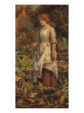 The Fair Gardener, 19th Century Giclee Print by Arthur Hughes