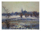 White Frost on the Plain at Reze, Gelee Blanche de La Prairie de Reze, 1909 Prints by Gustave Loiseau