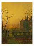 Knostrop Hall, Leeds Giclee Print by John Atkinson Grimshaw