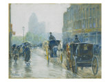 Horse Drawn Cabs, New York, 1891 Posters by Childe Hassam
