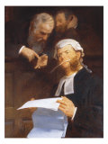 Instructing the Lawyer Giclee Print by Walter Jenks Morgan