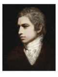 Portrait of a Gentleman Said to Be Samuel Taylor Coleridge, Wearing a Brown Jacket and White Jabot Art by John Opie