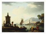 View of the Harbor at Genoa, 1773 Kunstdrucke von Claude Joseph Vernet