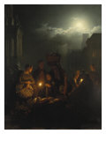 Night Market in Antwerp Giclee Print by Petrus van Schendel