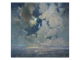 The Ocean at Sunrise Posters by Soren Emil Carlsen