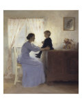 Mother and Child in an Interior, 1898 Giclee Print by Peter Ilsted