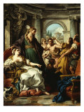 Joseph Accused by Potiphar's Wife, 1745 Prints by Jean Francois de Troy