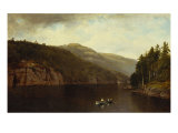 Boating on Lake George, 1870 Giclee Print by David Johnson