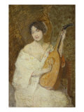 Lady with a Mandolin Giclee Print by Julian Alden Weir