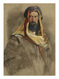 Study of an Arab Sheikh, 19th Century Print by John Frederick Lewis