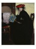 Model with a Japanese Fan Giclee Print by Alfred Henry Maurer