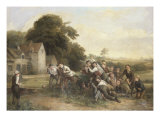 The Football Game Giclee Print by Thomas Webster