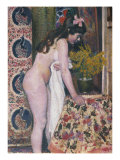 Nude Smelling the Flowers, Nu Sens Les Fleurs Reproduction proc&#233;d&#233; gicl&#233;e par Georges Lemmen