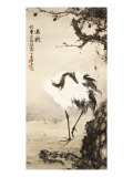 Crane under a Pine Tree Giclee Print by Gao Qifeng