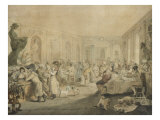 Very's Restaurant in the Palais Royal, Paris, 1803 Posters av John Nixon