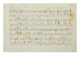 Autographed Manuscript Signed and Dedicated of the Grande Valse Brilliante, Opus 18 in E Flat Major Giclee Print by Fryderyk Chopin