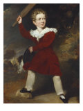 Portrait of a Boy, Full Length, Wearing a Red Coat and Breeches, 1834 Giclee Print by Claxton Marshall