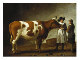 Butcher with a Bull Giclee Print by Calraet Abraham