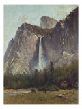 Bridal Veil Falls - Yosemite Valley Giclee Print by Thomas Hill