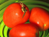 Red Tomatoes in a Green Bowl Photographic Print