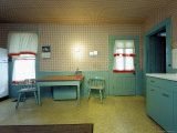 The Kitchen in Harry Truman's Family Home Fototryk i hj kvalitet af Henry Groskinsky
