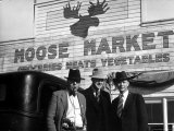 Lawman Frank Branik, Realtor Walt Wilson and Publisher Jerry Reinerston, Moose Market Grocery Store Premium Photographic Print by Margaret Bourke-White