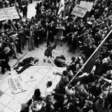Angry Demonstrators around Dead after Police Opened Fire, National Liberation Front Demonstration Photographic Print by Dmitri Kessel