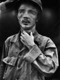 Dazed US Army Corporal Roy Day Jr., after Surviving the Red North Korean Massacre by Playing Dead Premium Photographic Print by Hank Walker
