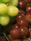 Red Green Grapes Nutritious Tasty Fruit Photographic Print