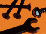 Wrench and Screws Photographic Print