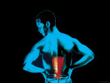 Color Image Man with Lower Back Pain Photographic Print