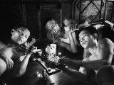 Opium Addicts Smoking, Sleeping, and Talking Together in a Desentoxication Clinic Premium Photographic Print by Jack Birns