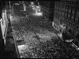 Night View of People Jammed into Times Square Celebrating the End of the War in Europe Photographic Print by Herbert Gehr