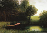 Kohler's Pig Stretched Canvas Print by Michael Sowa