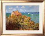 Fisherman's Cottage on the Cliffs at Varengeville Posters by Claude Monet