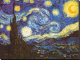 La nuit étoilée, vers 1889 Reproduction sur toile tendue par Vincent van Gogh