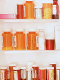 Medicine Cabinet Both Otc and Prescription Bottles Photographic Print