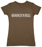 Juniors: Barack Obama - Barack N Roll T-shirts