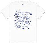 Youth: Vote 2008 - Confetti Blue Shirt