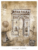Arc de Triomphe Posters by Elizabeth Jardine