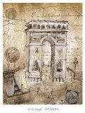 Arc de Triomphe Posters by Elizabeth Jardine