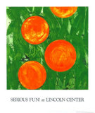 Four Oranges Serigraph by Donald Sultan