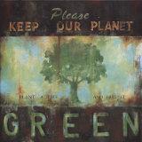 Grüner Planet Kunstdrucke von Wani Pasion