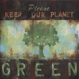 Planeta verde Lámina por Wani Pasion
